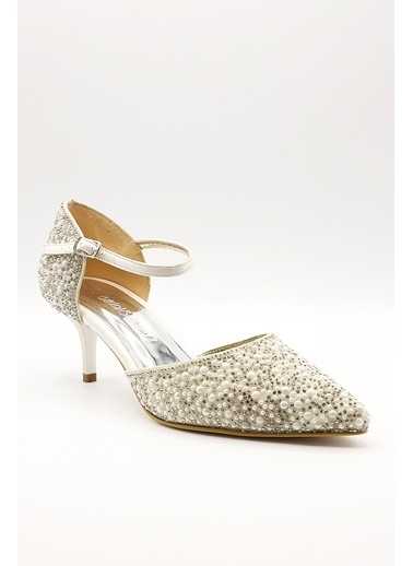 La scada Mr5292 Beyaz Kadın Abıye Ayakkabı Beyaz